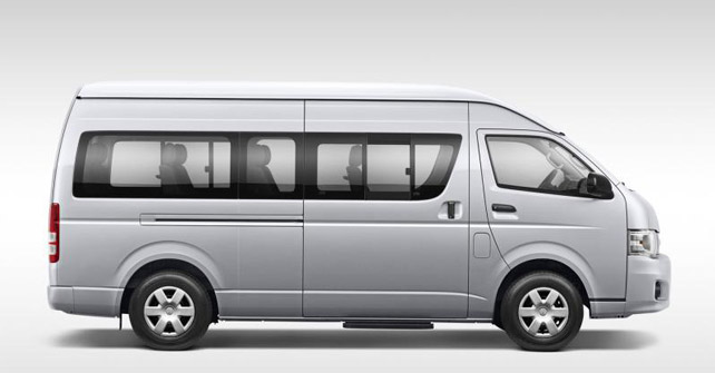 Toyota Hiace 10 Seater Van Spotted Testing Shifting Gears