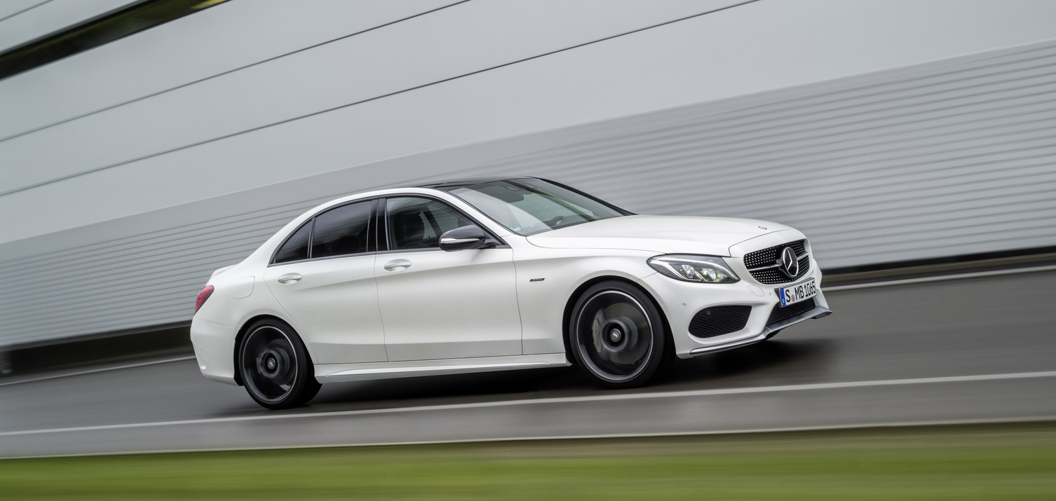 Mercedes benz c450 amg sport revealed shifting gears for Mercedes benz c450