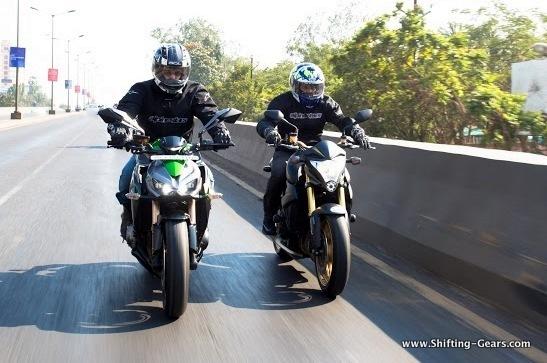 Kawasaki Z1000 Vs. Honda CB1000R