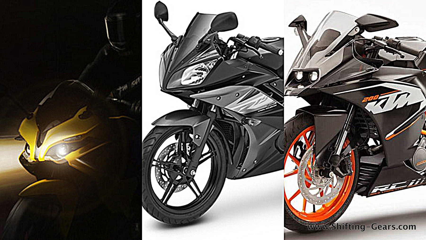Yamaha R15 Vs. Bajaj Pulsar RS200 Vs. KTM RC200
