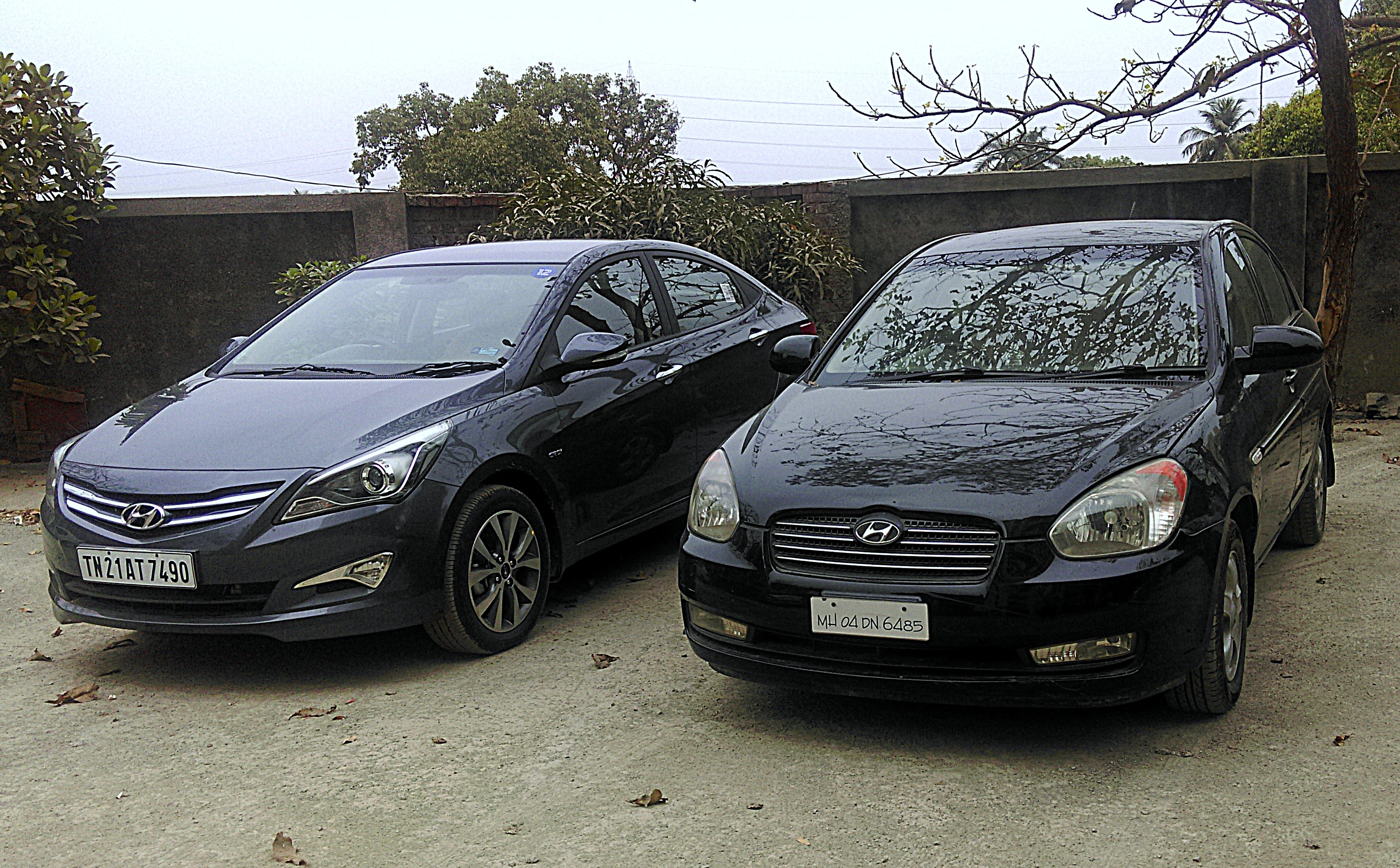 2015 Hyundai Verna 4S with the first-generation Verna