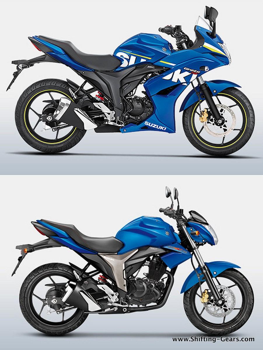 The Gixxer SF fairing merges well with the naked Suzuki Gixxer, looks fantastic