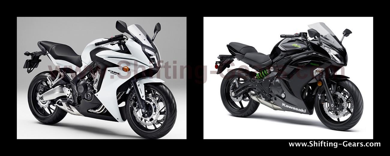 Honda CBR650F Vs. Kawasaki Ninja 650 : Specs comparo