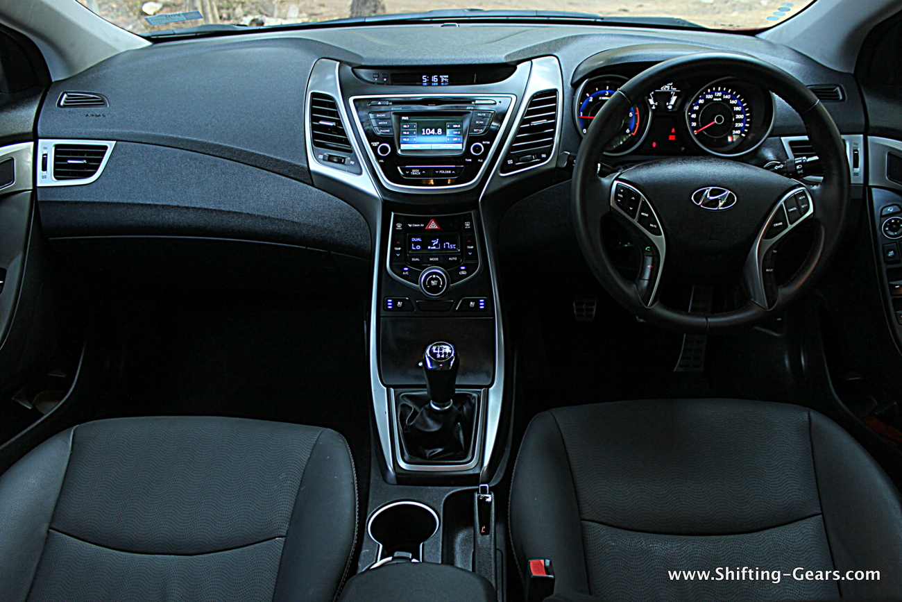2015 Hyundai Elantra Facelift 40. Interior Changes: