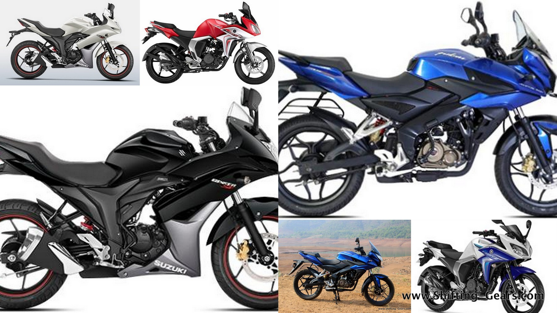 Suzuki Gixxer SF Vs. Bajaj Pulsar AS150 Vs. Yamaha Fazer