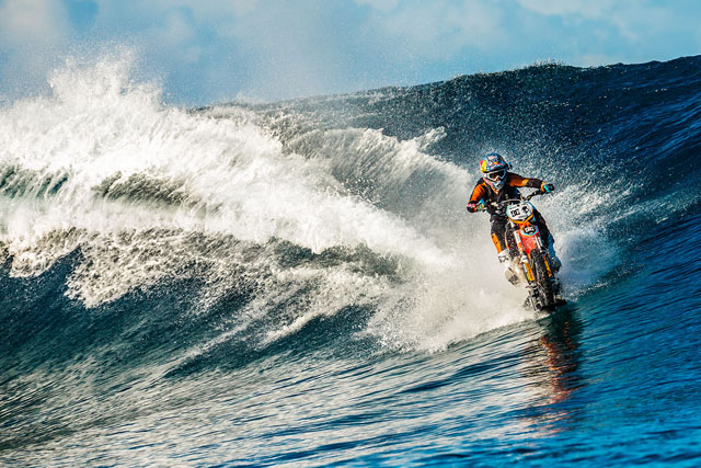Riding the giant waves