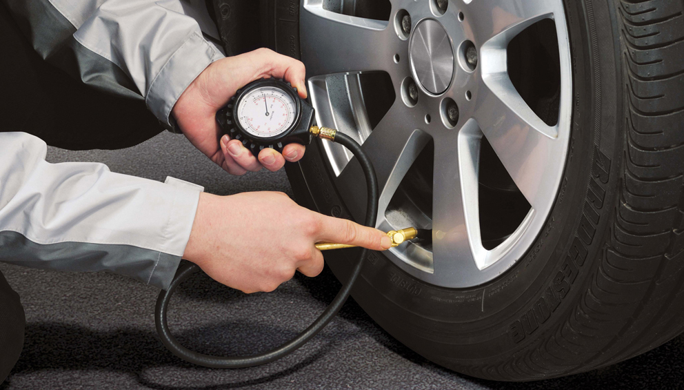 Importance of tyre pressure.