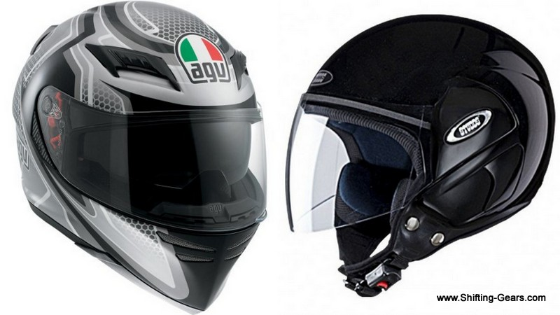 Full-face helmets VS. Half-face helmets