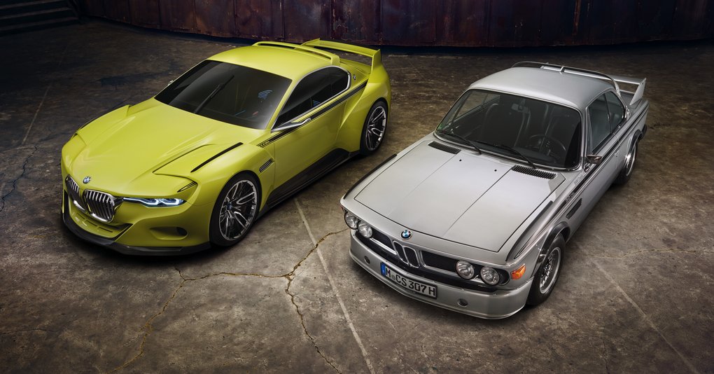 The BMW 3.0 CSL Hommage (1st version) and the original 3.0 CSL