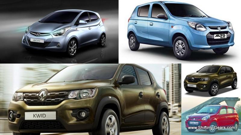 Renault Kwid vs. Maruti Alto 800 vs. Hyundai Eon