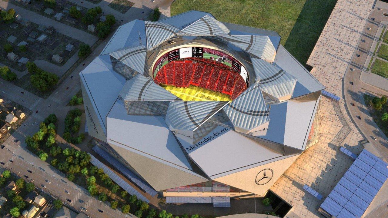 Mercedes Stadium in the making