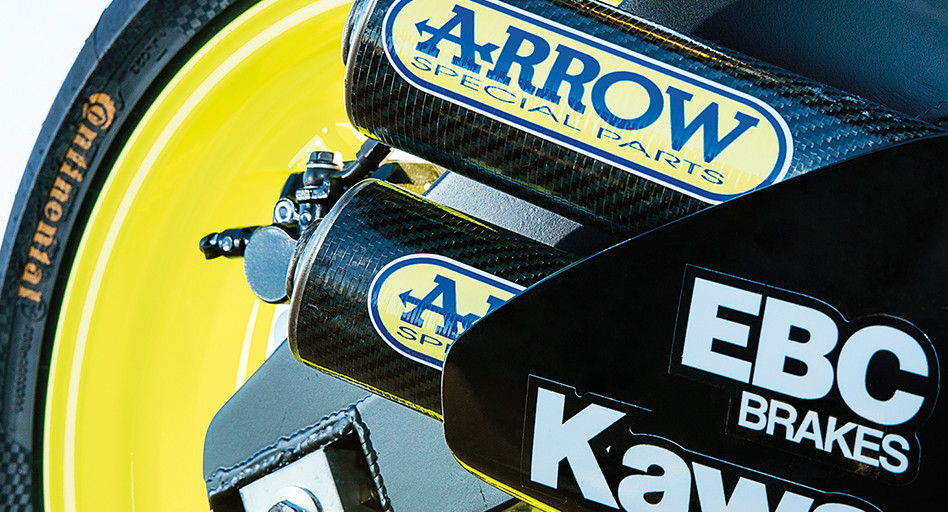 Kawasaki's ZX3-RR custom Arrow exhaust