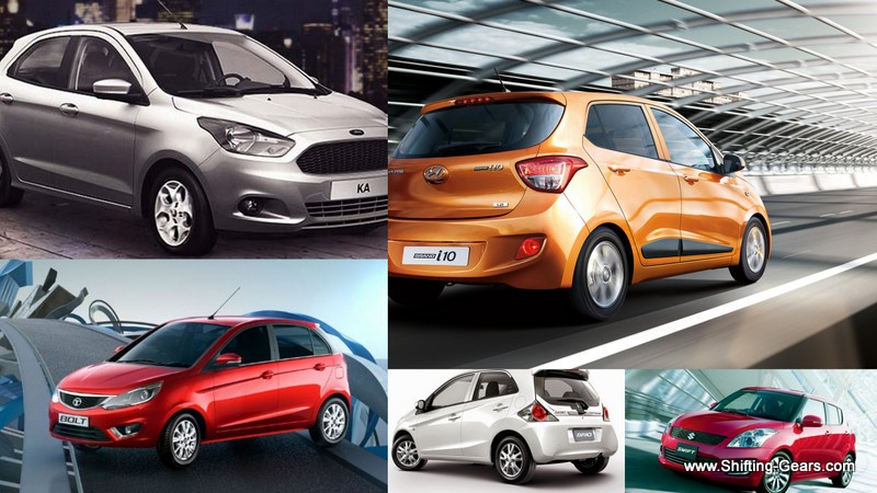 Figo vs. Grand i10 vs. Swift vs. Bolt vs. Brio