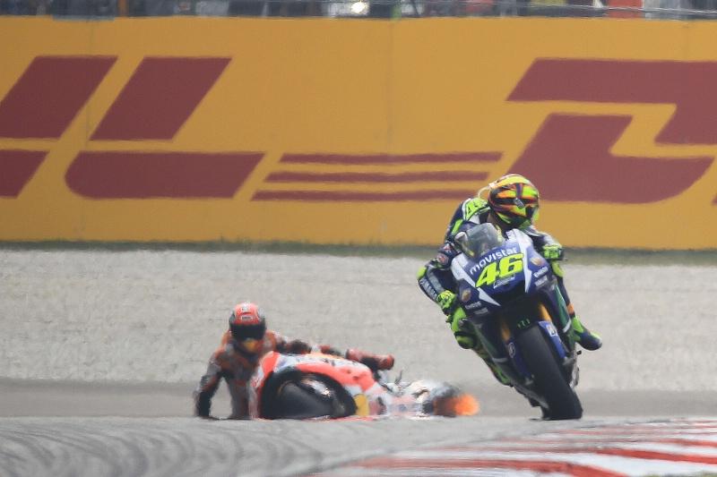Valentino Rossi Kicks Marc Marquez?