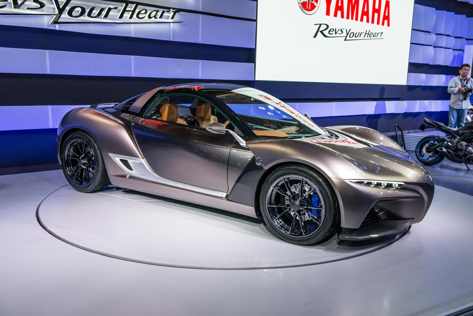 Yamaha S Bike Inspired Sports Car Shifting Gears
