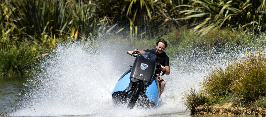 Biski- the amphibious motorcycle