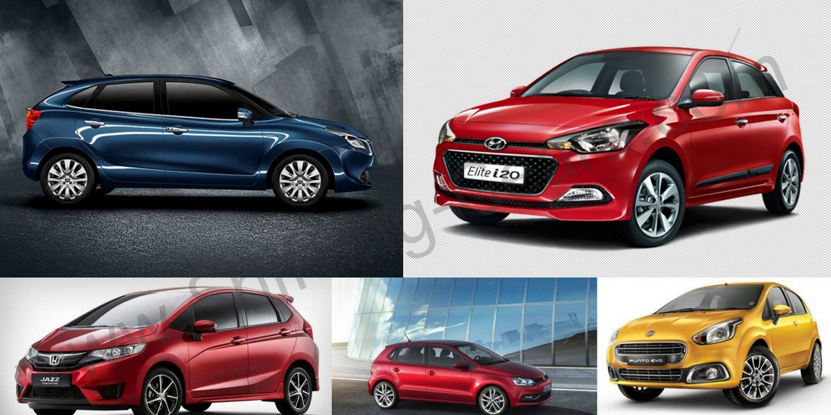 Maruti Baleno Vs. Honda Jazz Vs. Hyundai Elite i20 Vs. Volkswagen Polo Vs. Fiat Punto Evo