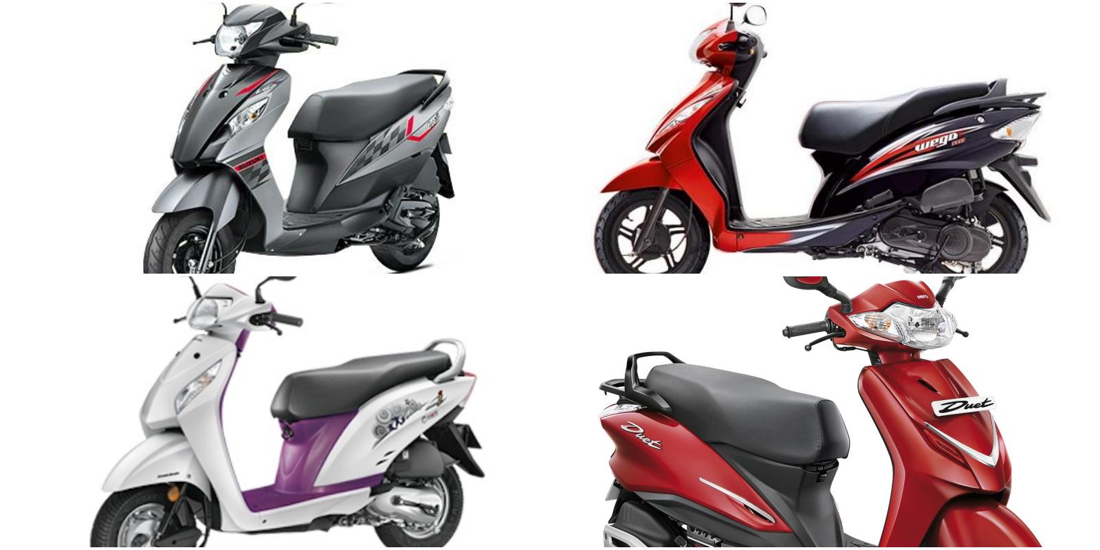 Honda Activa I Vs Hero MotoCorp Duet TVS Wego Suzuki Lets