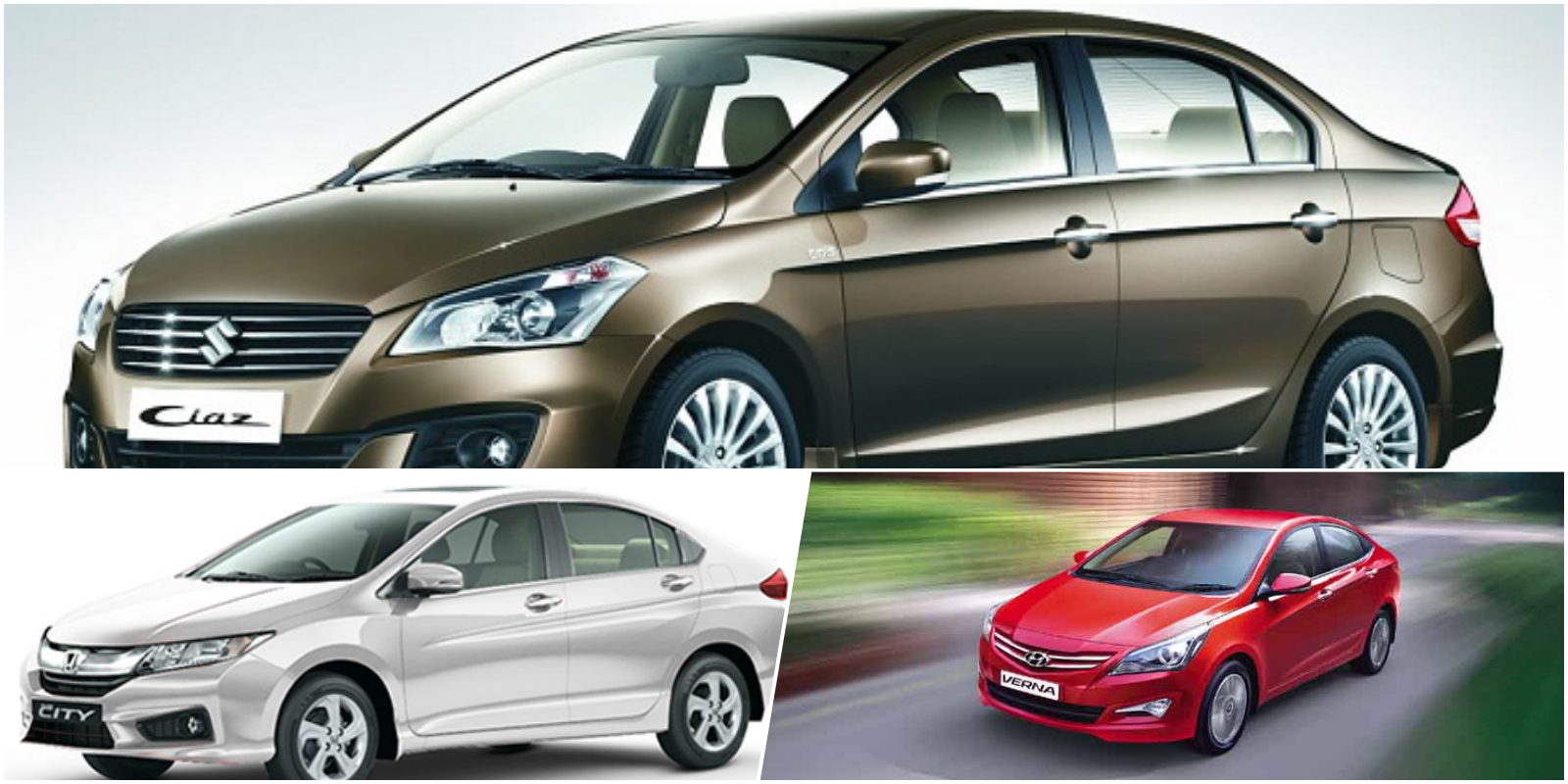 Hyundai Verna 4S Vs. Honda City Vs. Maruti Suzuki Ciaz- Spec comparo