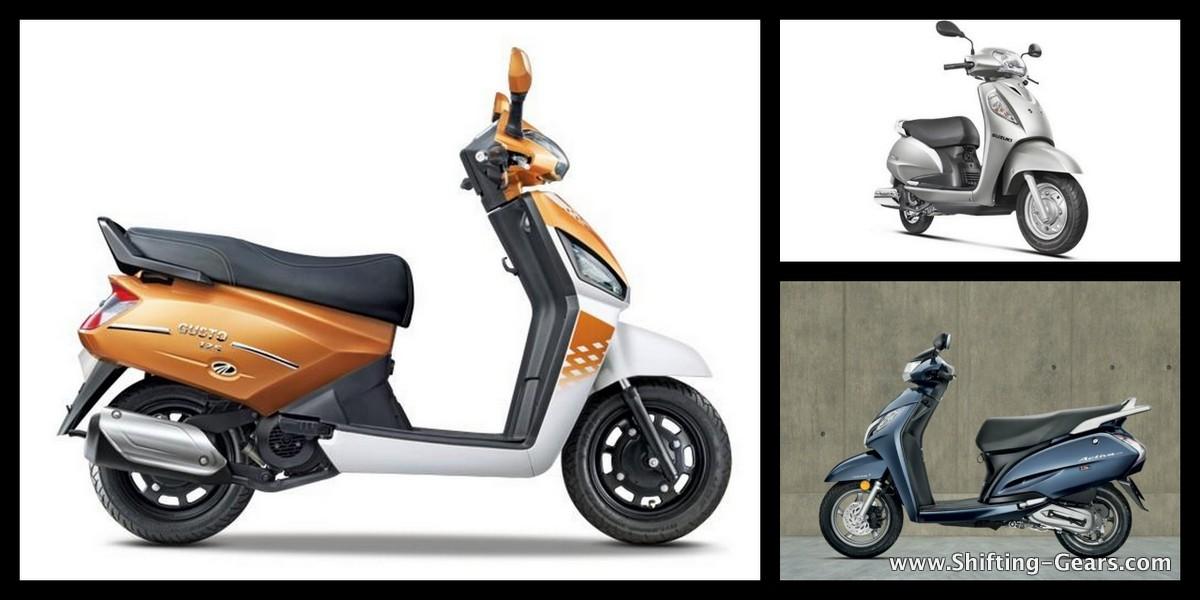 Mahindra Gusto 125 vs Honda Activa 125 vs Suzuki Access