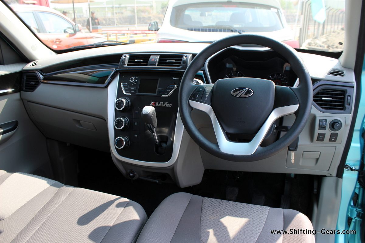 mahindra kuv100 first drive review shifting gears. Black Bedroom Furniture Sets. Home Design Ideas