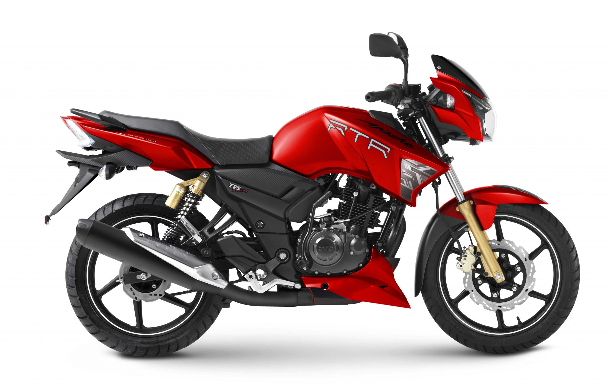 Tvs Apache Rtr 160 Amp Rtr 180 Get New Matte Red Colours