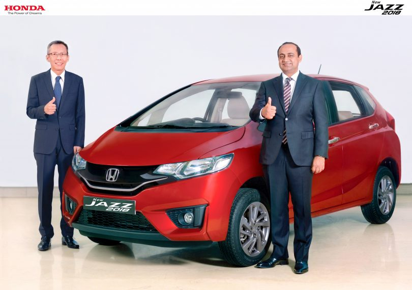 2018 honda jazz facelift launched for inr 7 35 000 shifting gears. Black Bedroom Furniture Sets. Home Design Ideas