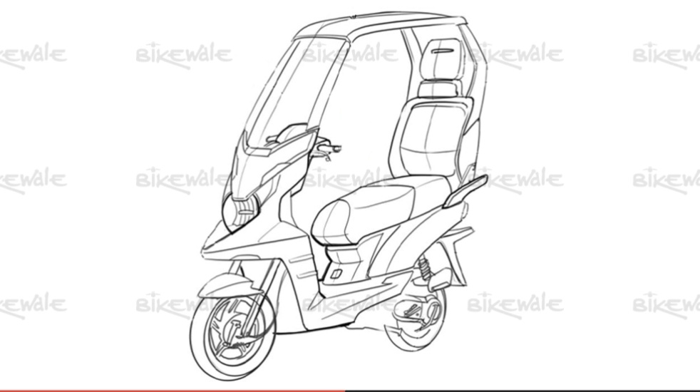 TVS planning electric+hybrid scooter with 'Solar Roof