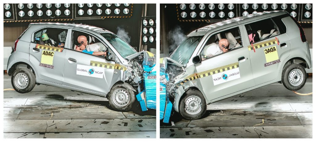 santro wagonr crash test 1