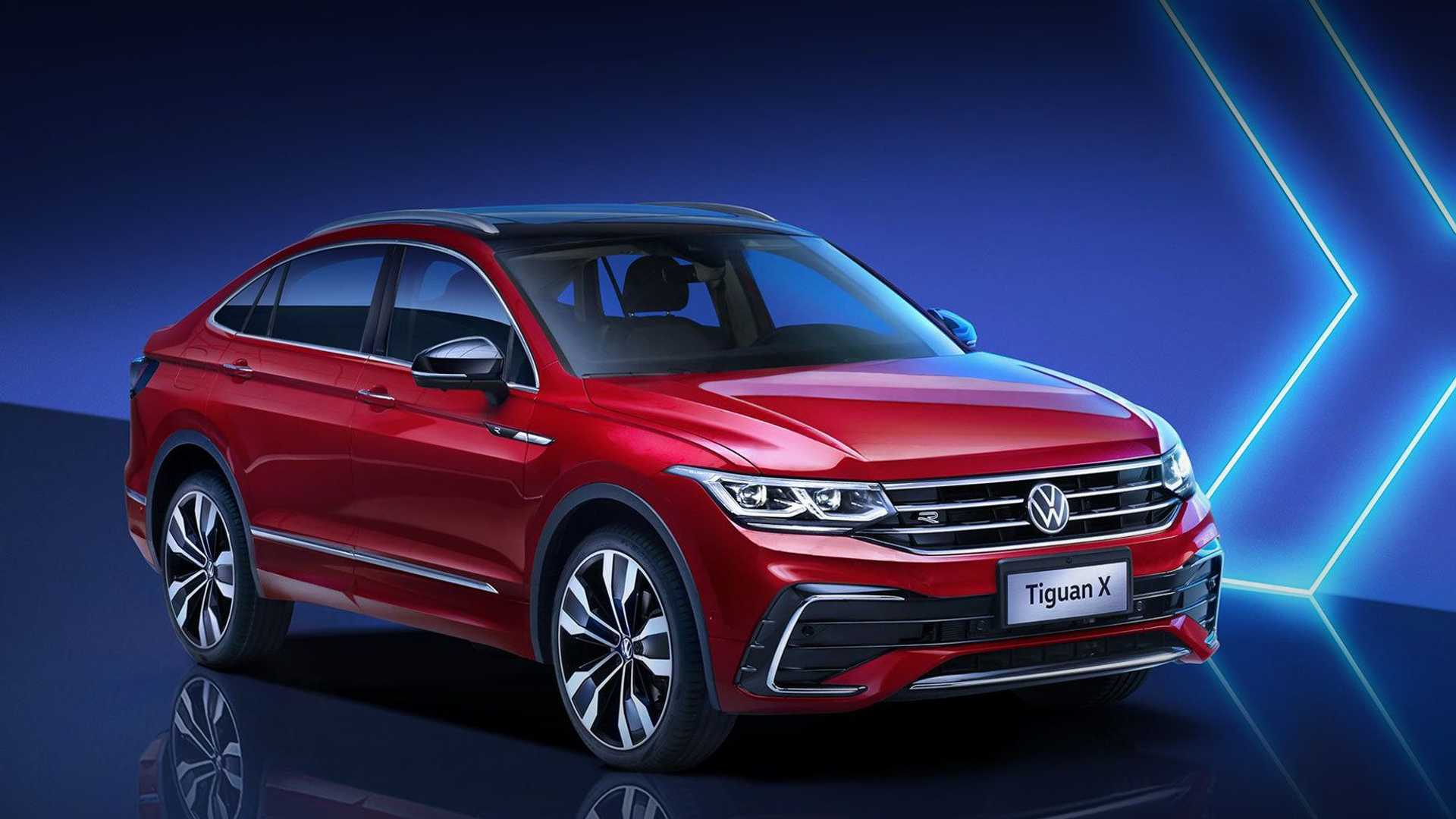 2021 Volkswagen Tiguan X coupe-styled SUV revealed in ...