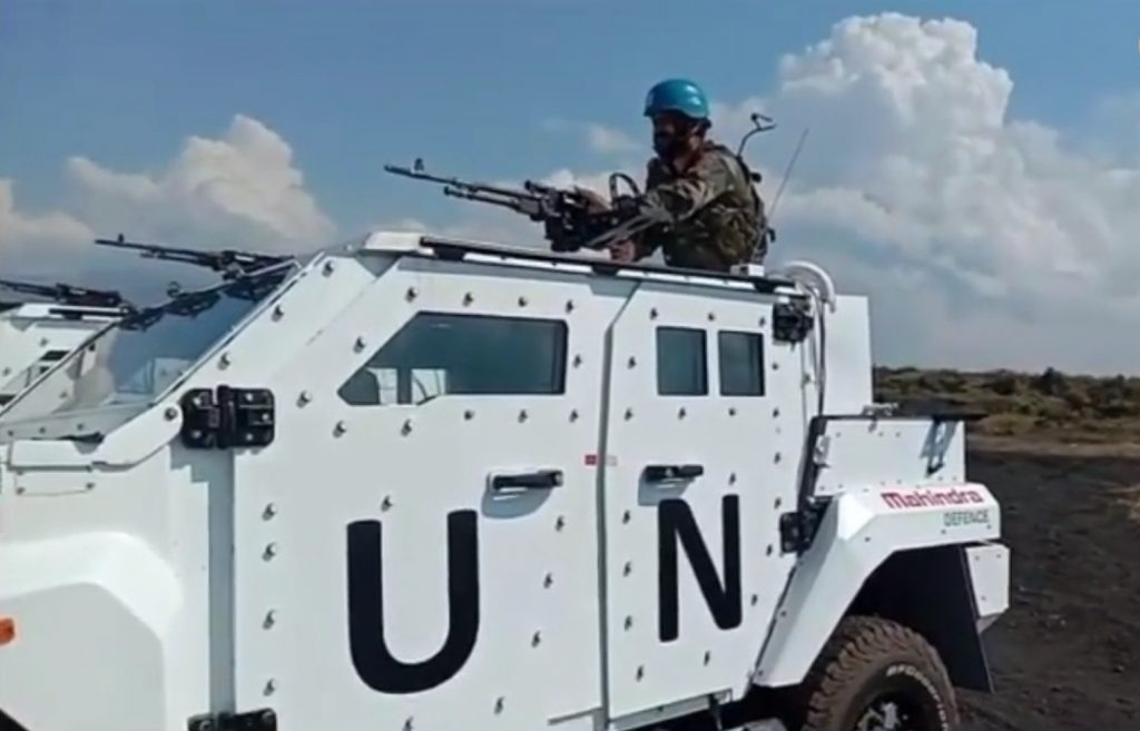 Mahindra's armored LSV with ballistic protection in UN Peacekeeping duty