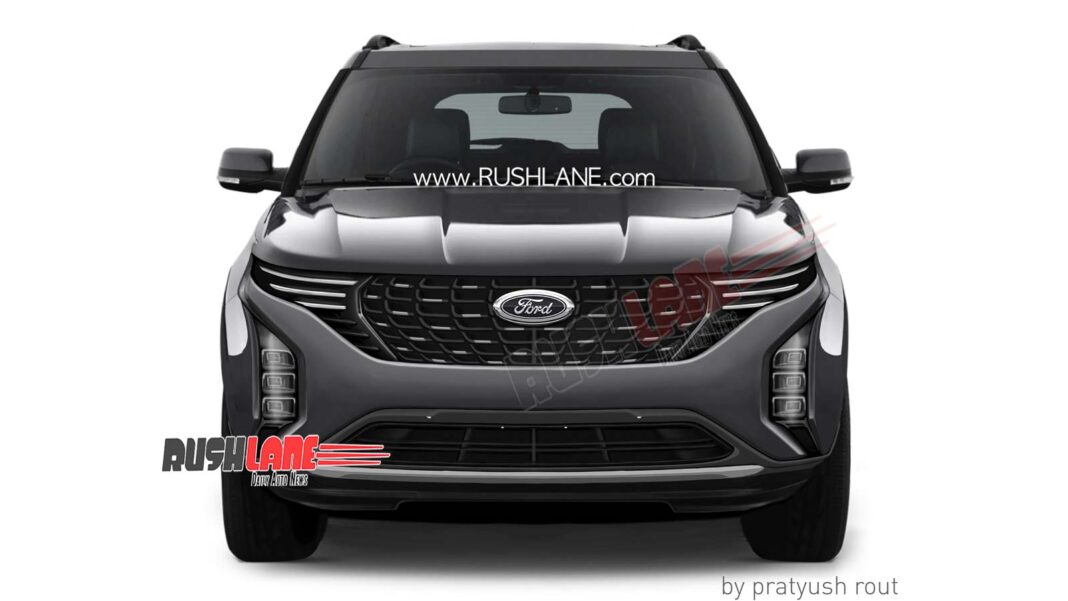 Ford S New Suv For India Based On 2021 Mahindra Xuv500 Rendered Looks Good Shifting Gears