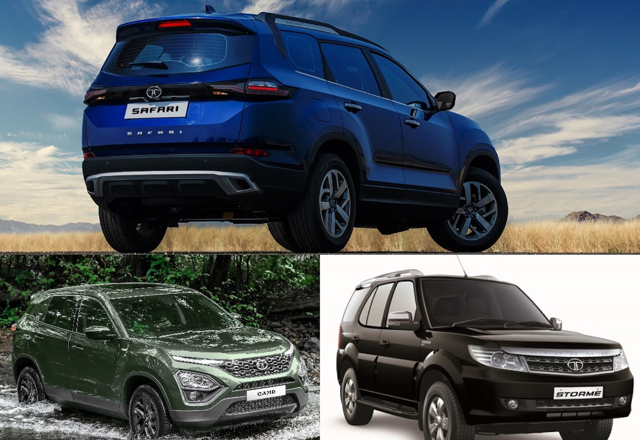 2021 Tata Safari Vs. Harrier Vs. old Safari Storme – Specification  Comparison | Shifting-Gears