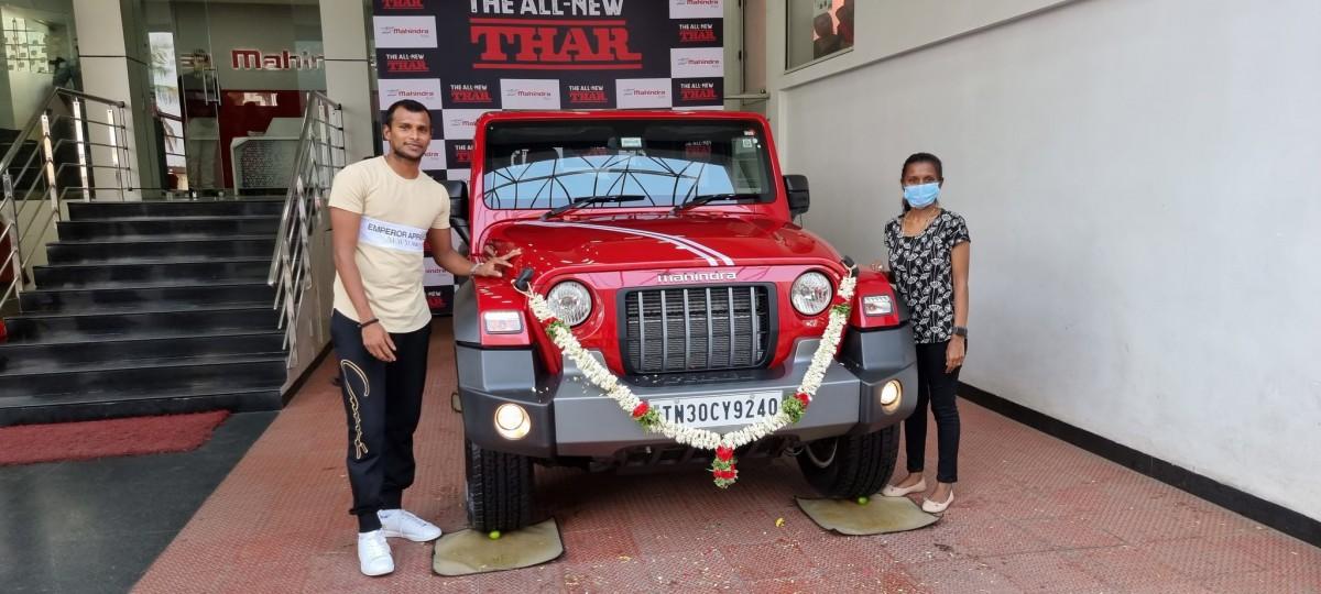 T. Natarajan got Mahindra Thar 2
