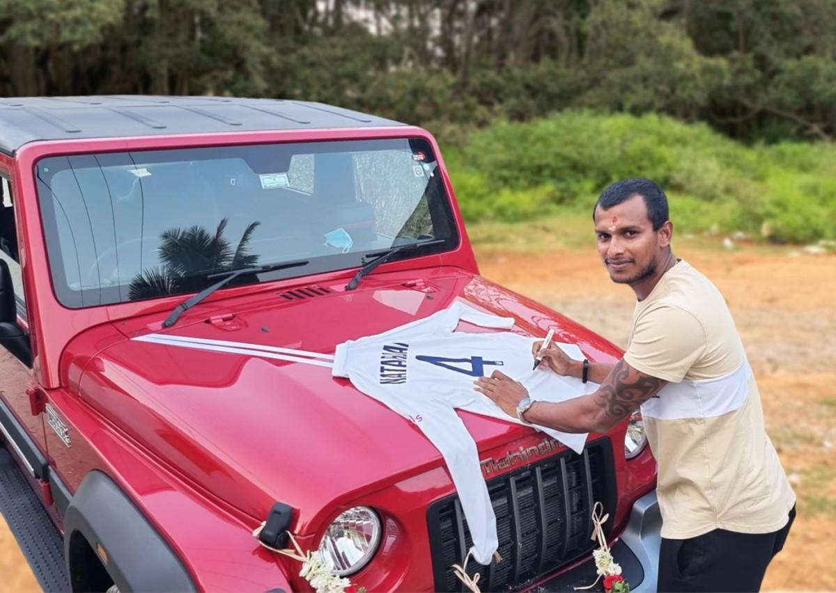 T. Natarajan got Mahindra Thar 1