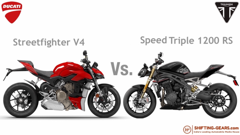 Ducati Streetfighter V4 Vs. Triumph Speed Triple 1200 RS