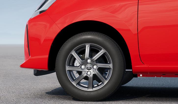 Toyota Agya hatchback - tyre
