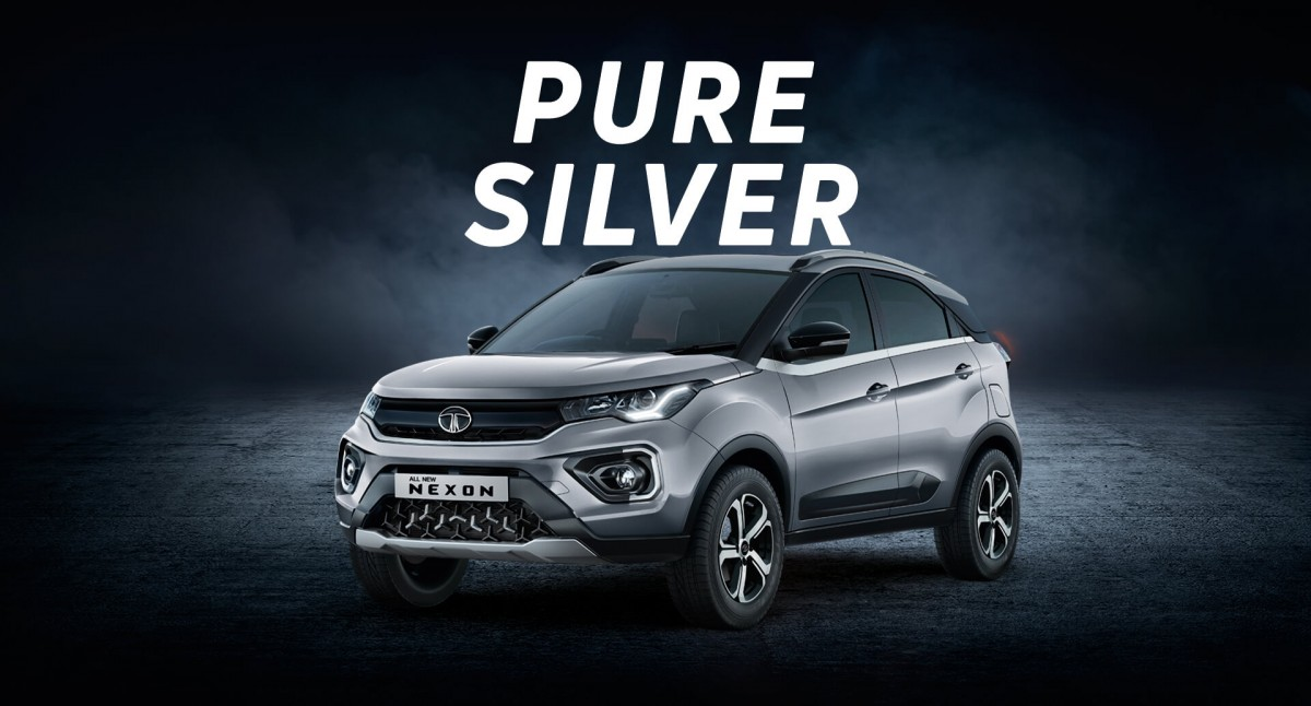Tata Nexon Silver
